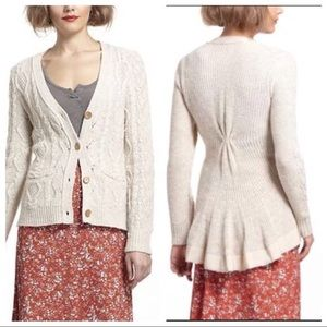 Anthropologie Far AwAy From Home Cardigan Skirted